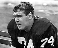 Oakland Raiders lineman Tom Keating...(1969 photo/Ron Riesterer)