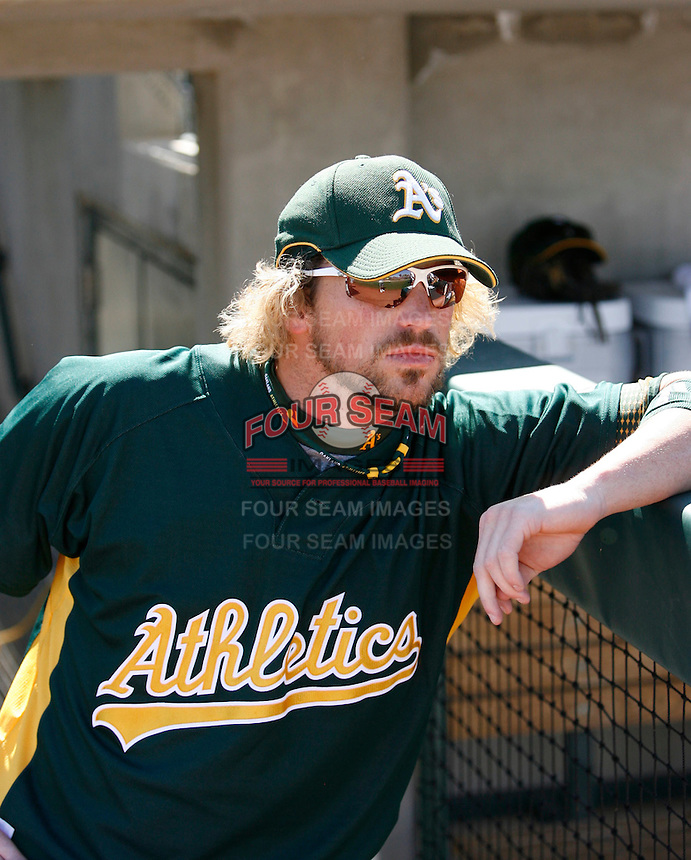 Travis Buck - Oakland Athletics - 2009 spring training.Photo by:  Bill Mitchell/Four Seam Images