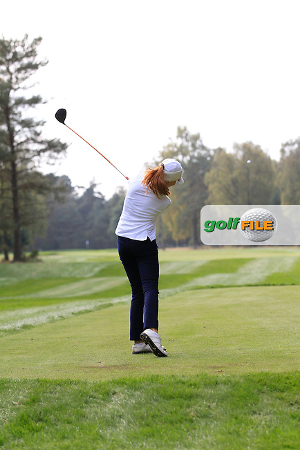 Mathilda Capelliez (FRA) on the 4th tee of the Mixed Fourballs during the 2014 JUNIOR RYDER CUP at the Blairgowrie Golf Club, Perthshire, Scotland. <br /> Picture:  Thos Caffrey / www.golffile.ie