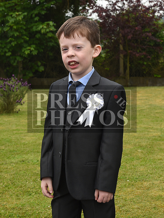 Alan O'Rourke McDonnell who received first holy communion in St Joseph's church Mell. Photo:Colin Bell/pressphotos.ie