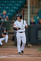 Jackson Generals Daulton Varsho (5) at bat during a Southern League game against the Mississippi Braves on July 23, 2019 at The Ballpark at Jackson in Jackson, Tennessee.  Mississippi defeated Jackson 1-0 in the second game of a doubleheader.  (Mike Janes/Four Seam Images)