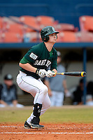 Dartmouth Big Green designated hitter Matt MacDowell #29 hits his first collegiate home run during a game against the Long Island Blackbirds at Chain of Lakes Stadium on March 17, 2013 in Winter Haven, Florida.  Dartmouth defeated Long Island 11-4.  (Mike Janes/Four Seam Images)