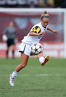 Riley Barger (10) of Maryland passes the ball forward during the game at Ludwig Field in College Park, MD.  Maryland defeated Wake Forest, 1-0.