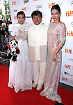 Jackie Chan; Yao Xingtong; Zhang Lanxin attending the The 2012 Toronto International Film Festival Red Carpet Arrivals for 'A Conversation with Jackie Chan' at the Princess of Wales Theatre in Toronto on 9/9/2012