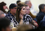 McKenzie Peterson listens to a speaker at the annual Western Nevada College Foundation Scholarship Appreciation &amp; Recognition Celebration in Carson City, Nev., on Friday, March 9, 2018. <br /> Photo by Cathleen Allison/Nevada Momentum