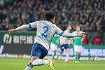 08.03.2019, Weser Stadion, Bremen, GER, 1.FBL, Werder Bremen vs FC Schalke 04, <br /> <br /> DFL REGULATIONS PROHIBIT ANY USE OF PHOTOGRAPHS AS IMAGE SEQUENCES AND/OR QUASI-VIDEO.<br /> <br />  im Bild<br /> <br /> jubel Weston McKennie (FC Schalke 04 #2)<br /> <br /> Foto &copy; nordphoto / Kokenge