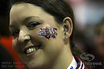 A Carolina Gamecock fan with her facepaint