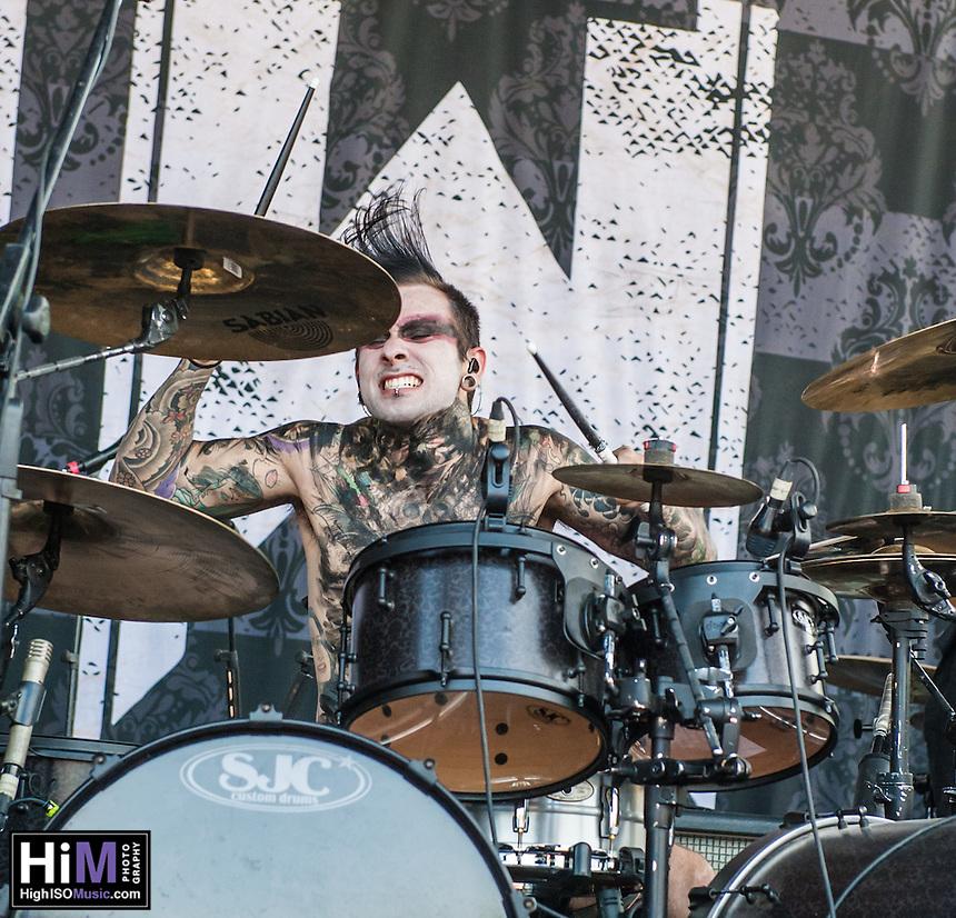 Motionless in White at Mayhem Fest 2013 in Atlanta, GA.