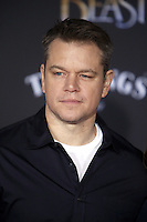 www.acepixs.com<br /> <br /> March 2 2017, LA<br /> <br /> Matt Damon arriving at the premiere of Disney's 'Beauty And The Beast' at the El Capitan Theatre on March 2, 2017 in Los Angeles, California.<br /> <br /> By Line: Famous/ACE Pictures<br /> <br /> <br /> ACE Pictures Inc<br /> Tel: 6467670430<br /> Email: info@acepixs.com<br /> www.acepixs.com