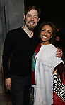 John Bolton and Shina Ann Morris   attends Actors' Equity Broadway Opening Night Gypsy Robe Ceremony honoring Shina Ann Morris for  'Anastasia' at the Broadhurst Theatre on April 24, 2017 in New York City.