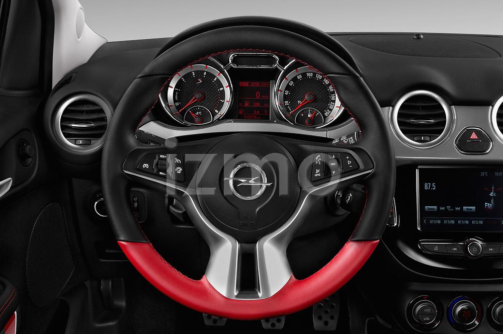Car pictures of steering wheel view of a 2017 Opel Adam S 3 Door Hatchback