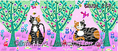 Kate, CUTE ANIMALS, LUSTIGE TIERE, ANIMALITOS DIVERTIDOS, paintings+++++Enchanted wood cats 1,GBKM268,#ac#, EVERYDAY ,cat,cats