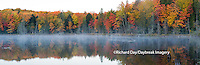 64776-010.18 Fall Color at small lake or pond Alger county in the Upper Peninsula, MI