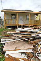 Hurricane Katrina damaged building home abandoned New Orleans Louisiana