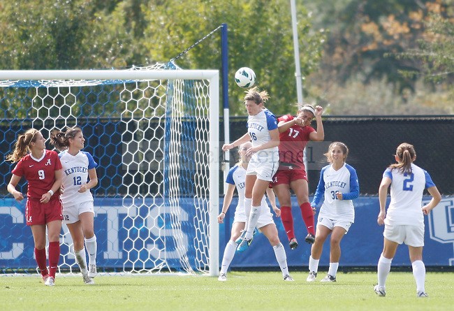 in the UK women's soccer game against Alabama on Sept. 30, 2012. UK lost 2-1 in overtime. Photo by Becca Clemons | Staff