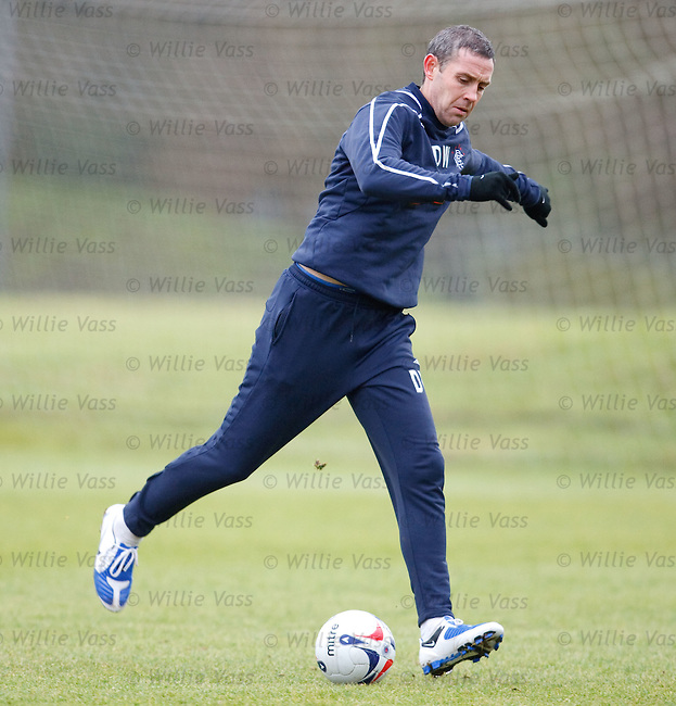 David Weir about to hoof the ball into next week