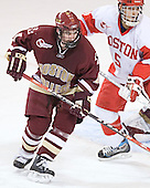 Brett Motherwell, John Laliberte - The Boston College Eagles defeated the Boston University Terriers 5-0 in the Northeast Regional Final on March 25, 2006 at the DCU Center in Worcester, MA.  The win advanced Boston College to the Frozen Four.