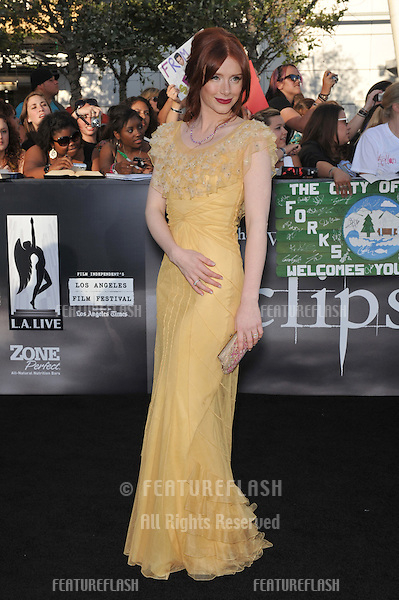 "Bryce Dallas Howard at the premiere of her new movie ""The Twilight Saga: Eclipse"" at the Nokia Theatre at L.A. Live..June 24, 2010  Los Angeles, CA.Picture: Paul Smith / Featureflash"