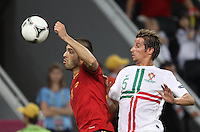 Forward of the national football team of Spain Álvaro Negredo â?-11 and defender of the national football team of Portugal Fábio Coentrão â?-5