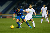 23rd November 2019; Caledonian Stadium, Inverness, Scotland; Scottish Championship Football, Inverness Caledonian Thistle versus Dundee Football Club; Charlie Trafford of Inverness Caledonian Thistle is tackled by Jamie Ness of Dundee  - Editorial Use