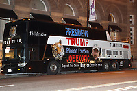 WASHINGTON D.C. - MAY 19: Joe Exotic's legal team arrives in DC tonight in a bus with his likeness with hopes of getting a chance to see President Trump tomorrow morning and receive a pardon for Exotic. May 19, 2020 in Washington, D.C. <br /> CAP/MPI34<br /> ©MPI34/Capital Pictures