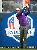 24.09.2014. Gleneagles, Auchterarder, Perthshire, Scotland.  The Ryder Cup.  Henrik Stenson (EUR) on the 17th tee during his practice round.