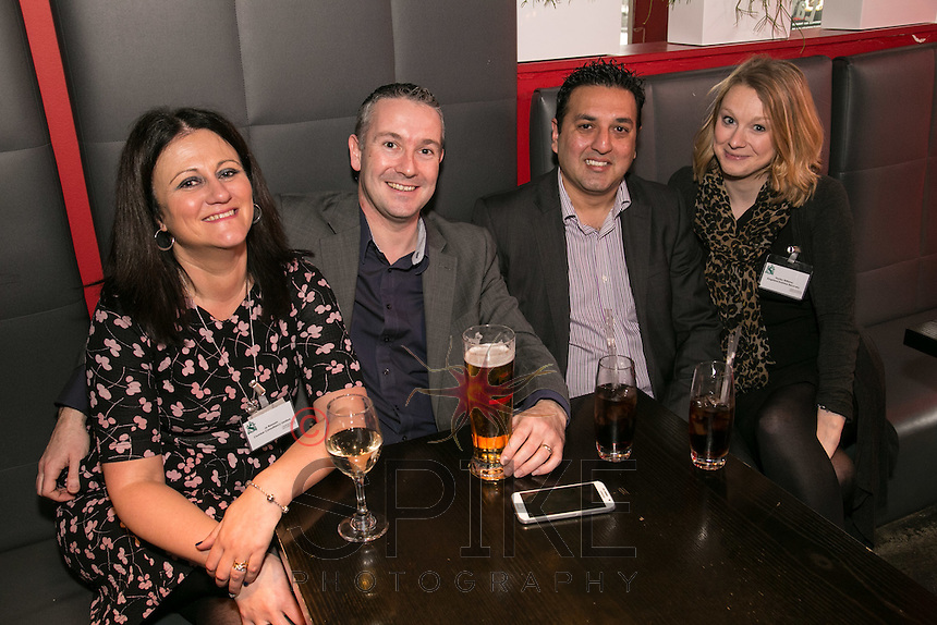 Relaxing from left are Jo Rawson and Darren Toms both of Clumber Consultancy, Taz Rashid and Hayley Williams both of  of Kingsland Business Recovery