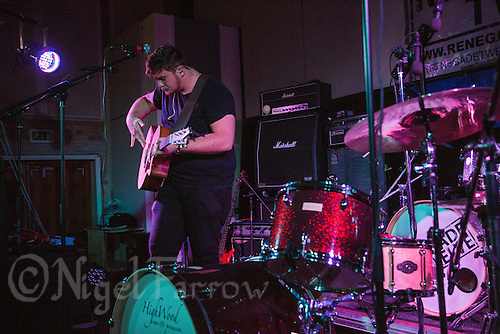 19 SEP 2015 - STOWMARKET, GBR - Connor Adams performs at  the Friends of Pikes Meadow benefit night at the John Peel Centre for Creative Arts in Stowmarket, Suffolk, Great Britain (PHOTO COPYRIGHT © 2015 NIGEL FARROW, ALL RIGHTS RESERVED)