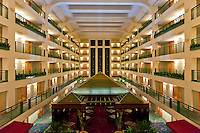Atrium of the DoubleTree by Hilton Guest Suites & Conference Center in Downers Grove, IL