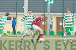 David Clifford Killarney Celtic tackles Ryan ford Renmore in Killarney on Saturday