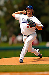 19 March 2006: Derek Lowe, pitcher for the Los Angeles Dodgers, on the mound during a Spring Training game against the Washington Nationals at Holeman Stadium, in Vero Beach, Florida. The Dodgers defeated the Nationals 9-1 in Grapefruit League play...Mandatory Photo Credit: Ed Wolfstein Photo..