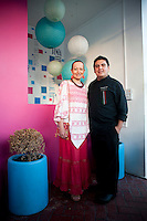 Chef Patricia Quintana and Chef Christian Bravo. at Punta del Mar restaurant Merida, Yucatan, Mexico