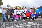 Some of the crowd that participated in the John B Doona memorial walk in Lisleibane Beaufort on Sunday morning