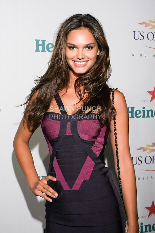 Lisalla Montenegro arrives at the US Open Player Party at The Empire Hotel, August 27, 2010.