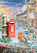 Marcello, CHRISTMAS ANIMALS, WEIHNACHTEN TIERE, NAVIDAD ANIMALES, paintings+++++,ITMCXM2162,#xa# ,post box