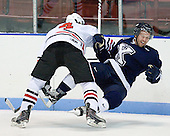 Dan Cornell (Northeastern - 4), Brett Frazee (StFX - 23) - The visiting St. Francis Xavier University X-Men defeated the Northeastern University Huskies 8-5 on Sunday, October 2, 2011, at Matthews Arena in Boston, Massachusetts.
