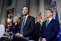 Roma, 12 Aprile 2018<br />  Juliane Unterberger,Philipp Achammer, Albert Laniece .<br /> Secondo giro di Consultazioni per la formazione del Governo