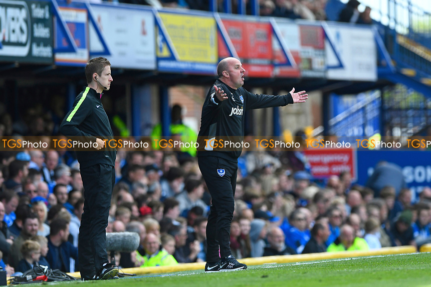 Portsmouth Manager Paul Cook during Portsmouth vs Plymouth Argyle, Sky Bet EFL League 2 Football at Fratton Park on 14th April 2017