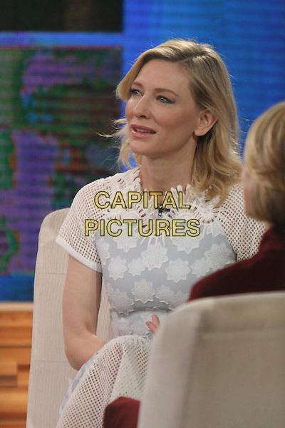 NEW YORK, NY - NOVEMBER 16: Cate Blanchett visits ABC's Good Morning America in New York City on November 16, 2015. <br /> CAP/MPI/RW<br /> &copy;RW/MPI/Capital Pictures
