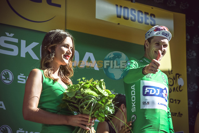 Arnaud Demare (FRA) FDJ wins Stage 4 and also takes over the points Green Jersey of the 104th edition of the Tour de France 2017, running 207.5km from Mondorf-les-Bains, Luxembourg to Vittel, France. 4th July 2017.<br /> Picture: ASO/Thomas Maheux | Cyclefile<br /> <br /> <br /> All photos usage must carry mandatory copyright credit (&copy; Cyclefile | ASO/Thomas Maheux)