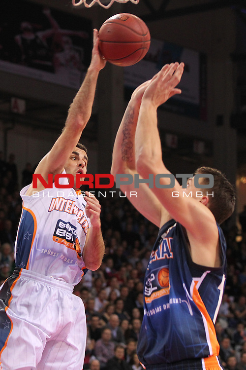 18.01.2014, Telekom Baskets Dome, Bonn, GER, BBL, Allstar Day 2014 Team National vs. Team International, im Bild<br /> Jared Jordan (Team International, Telekom Baskets Bonn)<br /> <br /> Foto &copy; nordphoto / Mueller