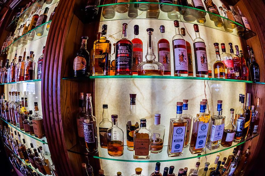 Cascades Whiskey Bar in the historic Stanley Hotel, Estes Park, Colorado USA.