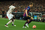 UEFA Champions League 2018/2019.<br /> Quarter-finals 2nd leg.<br /> FC Barcelona vs Manchester United: 3-0.<br /> Paul Pogba vs Ivan Rakitic.