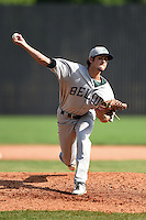 Beloit Snappers pitcher Joel Seddon (21) delivers a pitch during a game against the Clinton LumberKings on August 17, 2014 at Ashford University Field in Clinton, Iowa.  Clinton defeated Beloit 4-3.  (Mike Janes/Four Seam Images)