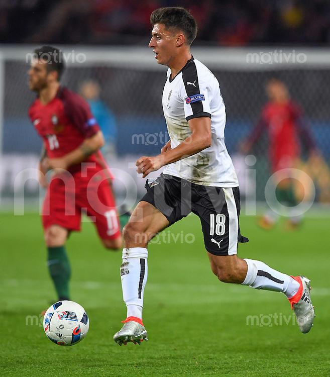 FUSSBALL EURO 2016 GRUPPE F IN PARIS Portugal - Oesterreich      18.06.2016 Alessandro Schoepf  (Oesterreich)