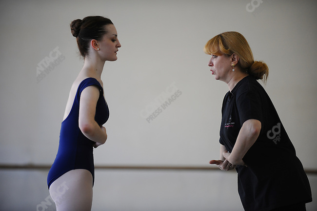Joy Womack, an American student at the Moscow State Academy of Choreography, the main school feeding dancers to the Bolshoi Ballet and one of the top ballet schools in the world, worked with Natalya Arkhipova. Moscow, Russia, March 10, 2010