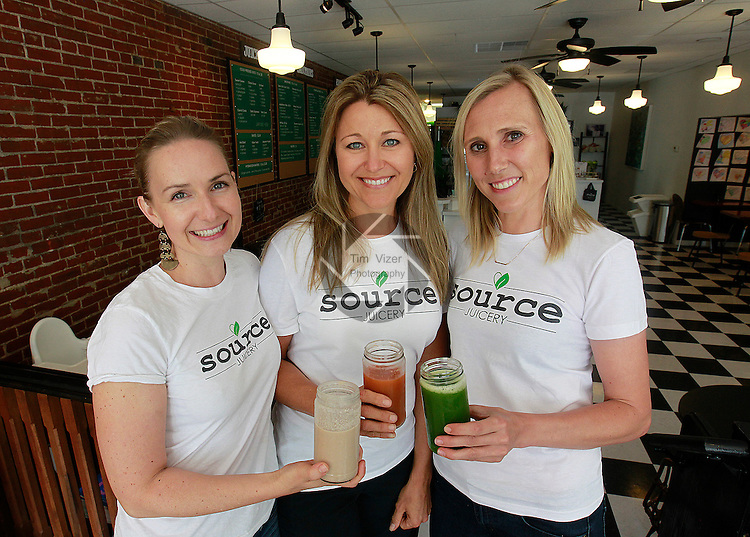 The three co-owners of the Source Juicery are (from left) Lisa Hudson, Chrissy Stevens, and Michelle Motley.