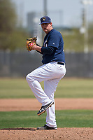 Milwaukee Brewers relief pitcher Trey Supak (64) during a Minor League Spring Training game against the Kansas City Royals at Maryvale Baseball Park on March 25, 2018 in Phoenix, Arizona. (Zachary Lucy/Four Seam Images)