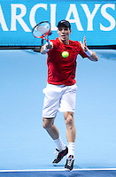 Tomas Berdych (CZE) (7) against Jo-Wilfred Tsonga (FRA) (8)  in the semi-finals of the Barclays ATP World Tour Finals...@AMN IMAGES, Frey, Advantage Media Network, Level 1, Barry House, 20-22 Worple Road, London, SW19 4DH.Tel - +44 208 947 0100.email - mfrey@advantagemedianet.com.www.amnimages.photoshelter.com.
