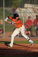 AZL Giants Orange Connor Cannon (13) at bat during a game against the AZL Angels at Giants Baseball Complex on June 17, 2019 in Scottsdale, Arizona. AZL Giants Orange defeated AZL Angels 8-4. (Zachary Lucy/Four Seam Images)